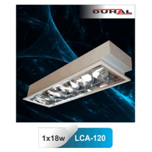 Máng đèn phản quang âm trần T8 1x18W LCA 120 Duhal