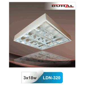 Máng đèn phản quang gắn nổi T8 3x18W LDN 320 Duhal