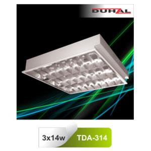 Máng đèn phản quang âm trần T5 3x14W TDA 314 Duhal