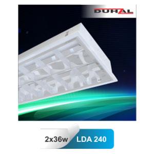 Máng đèn phản quang âm trần T8 2x36W LDA 240 Duhal