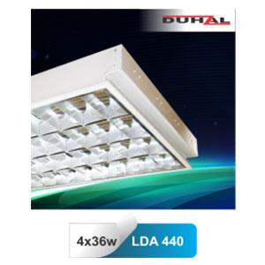 Máng đèn phản quang âm trần T8 4x36W LDA 440 Duhal