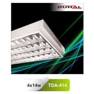 Máng đèn phản quang âm trần T5 4x14W TDA 414 Duhal