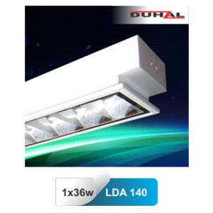 Máng đèn phản quang âm trần T8 1x36W LDA 140 Duhal