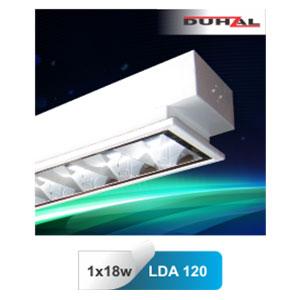 Máng đèn phản quang âm trần T8 1x18W LDA 120 Duhal