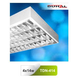 Máng đèn phản quang gắn nổi T5 4x14W TDN 414 Duhal