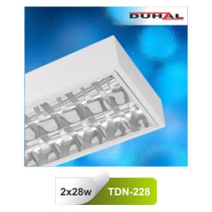 Máng đèn phản quang gắn nổi T5 2x28W TDN 228 Duhal