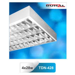 Máng đèn phản quang gắn nổi T5 4x28W TDN 428 Duhal