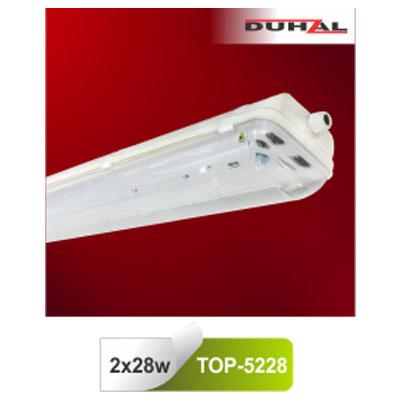 Máng đèn chống thấm T5 2x28W TOP-5228 Duhal