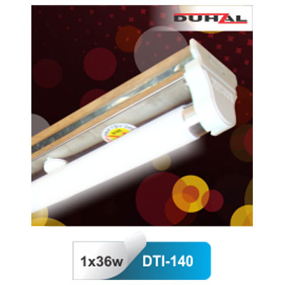 Máng đèn siêu mỏng inox DTI 140 Duhal