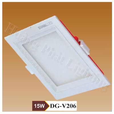 Đèn Led âm trần vuông 6W DGV 206 Duhal