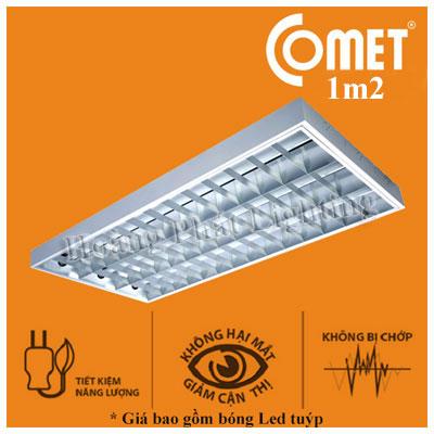 Bộ máng đèn Led lắp nổi 1m2 4x18W CSR412 Comet
