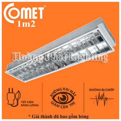 Bộ máng đèn Led âm trần 1m2 1x18W Cfr112/E Comet