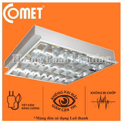 Bộ máng đèn Led thanh 1m2 3x18W CLCFR4126 Comet