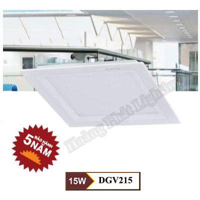 Đèn Led âm trần vuông 15W DGV215 Duhal