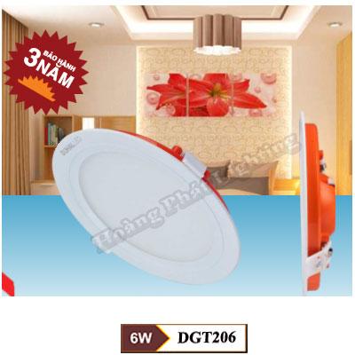 Đèn Led âm trần 6W DGT206 Duhal