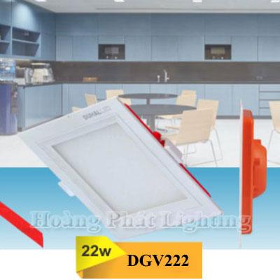 Đèn Led âm trần vuông 22W DGV222 Duhal
