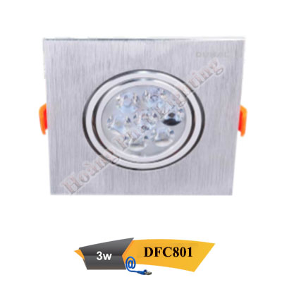 Đèn Led âm trần chiếu điểm 3W DFC801 Duhal