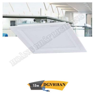 Đèn Led âm trần vuông 18W DGV018AN Duhal