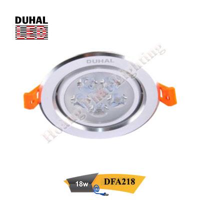 Đèn Led âm trần chiếu điểm 18W DFA218 Duhal