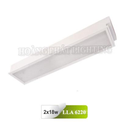 Máng đèn âm trần Mica T8 0M6 2x18W LLA6220 Duhal