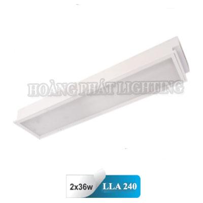 Máng đèn âm trần Mica T8 1m2 2x36W LLA240 Duhal