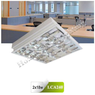Máng đèn Led âm trần T8 1m2 2X18W LCA240 Duhal