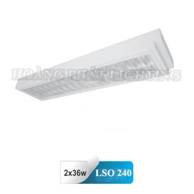 Máng đèn âm trần Mica chống thấm T8 1m2 2X36W LSO240 Duhal