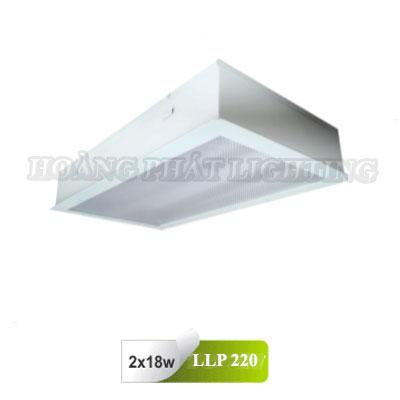 Máng đèn âm trần Mica phòng sạch T8 0m6 2X18W LLP220 Duhal
