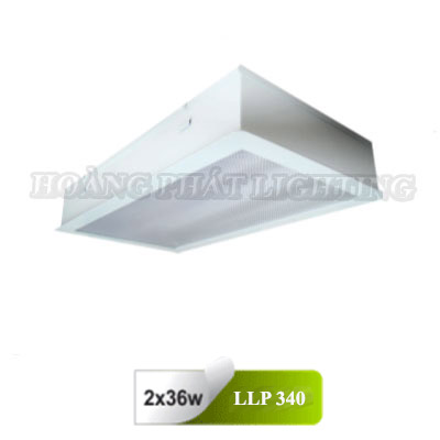 Máng đèn âm trần Mica phòng sạch T8 1m2 3X36W LLP340 Duhal