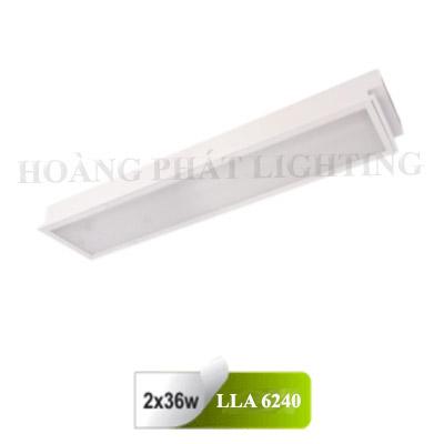 Máng đèn âm trần Mica T8 1m2 2X36W LLA6240 Duhal
