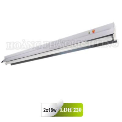 Máng đèn công nghiệp chóa phản quang T8 0m6 2X18W LDH220 Duhal