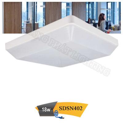 Đèn ốp trần vuông chống thấm 18W SDSN402 Duhal