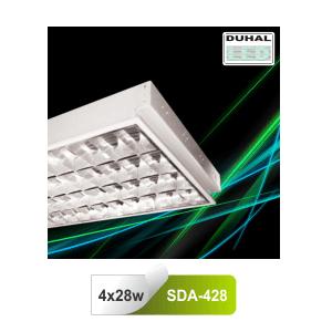 Máng đèn huỳnh quang âm trần Duhal SDA428 4x28W T5