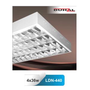 Máng đèn gắn nổi Duhal LDN440 - Máng phản quang 4 bóng 1m2