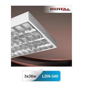 Máng đèn huỳnh quang Duhal LDN340 - Máng lắp nổi 3 bóng 1m2