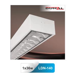Máng đèn huỳnh quang gắn nổi Duhal LDN140 1x36W T8