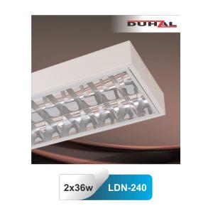 Máng đèn huỳnh quang gắn nổi Duhal LDN240 2 bóng 36W