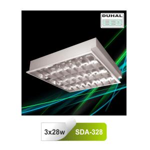 Máng đèn âm trần Duhal SDA328 - Máng huỳnh quang T5 3 bóng 1m2