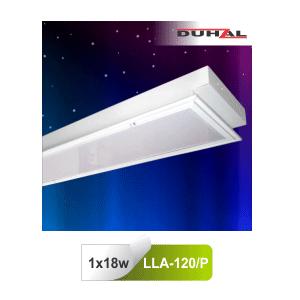 Máng đèn huỳnh quang Duhal LLA120/P - Máng âm trần vân cát