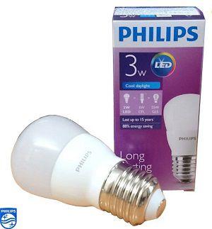 Bóng đèn led Bulb Philips 3W E27 6500K