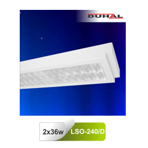 Máng đèn huỳnh quang Duhal LSO240/D - Máng âm trần chụp mica