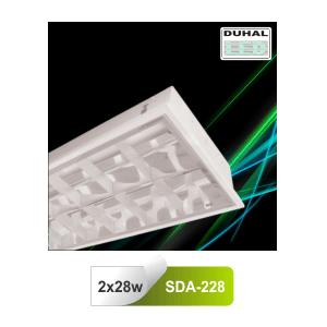 Máng đèn huỳnh quang Duhal SDA228 - Máng âm trần T5 2 bóng