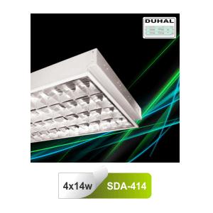 Máng đèn huỳnh quang Duhal SDA414 - Máng âm trần 0m6 T5 14W