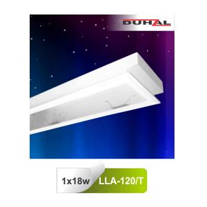 Máng đèn âm trần Duhal LLA120/T - Máng huỳnh quang mica 1x18W