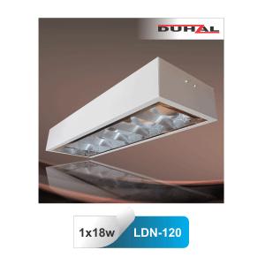 Máng đèn huỳnh quang Duhal LDN120 1x18W gắn nổi
