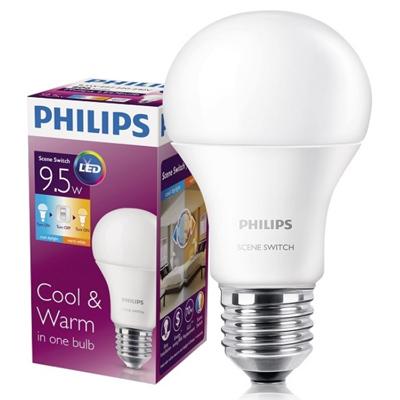 Bóng đèn Led 3 cấp công suất Scene Switch A60 3S 9-70W Philips