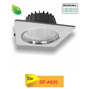 Đèn led downlight âm trần Duhal mặt vuông DF-A820