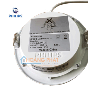 Đèn led downlight Philips DN024B 11W D125