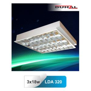 Máng đèn huỳnh quang âm trần Duhal LDA 320 3x18W