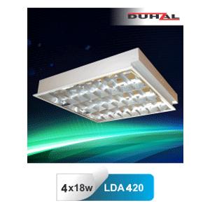 Máng đèn huỳnh quang âm trần Duhal LDA 420 4x18W